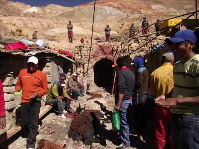 Vista de la mina