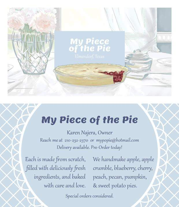 My Piece of the Pie Business Card