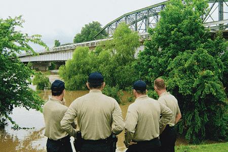 Texas Rangers assess flood waters