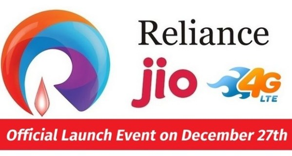 Reliance Jio 4G Services To Officially Launch on Dec 27th