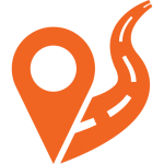 pictogramme localisation route traceur gps