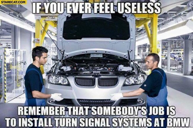 BMW Turn signal Meme