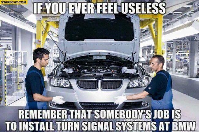 BMW Turn signal Meme