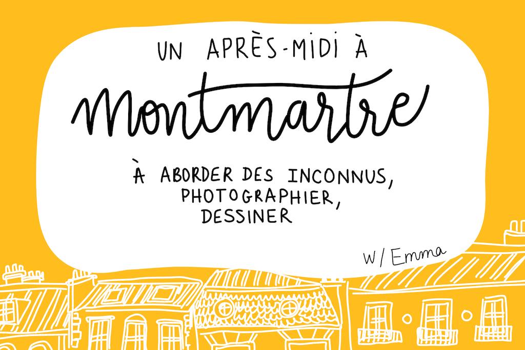 Discuter avec des inconnus à Montmartre