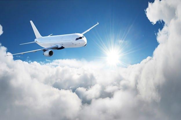 El viaje en avión