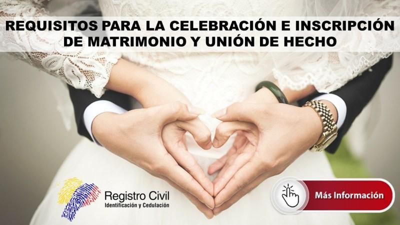 Matrimonio y Unión de Hecho en Ecuador
