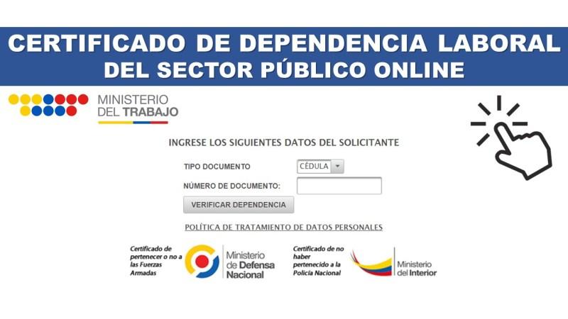 Certificado de Dependencia Laboral del Sector Público Online