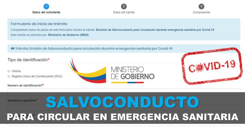 Salvoconducto para Circular en Emergencia Sanitaria por COVID–19
