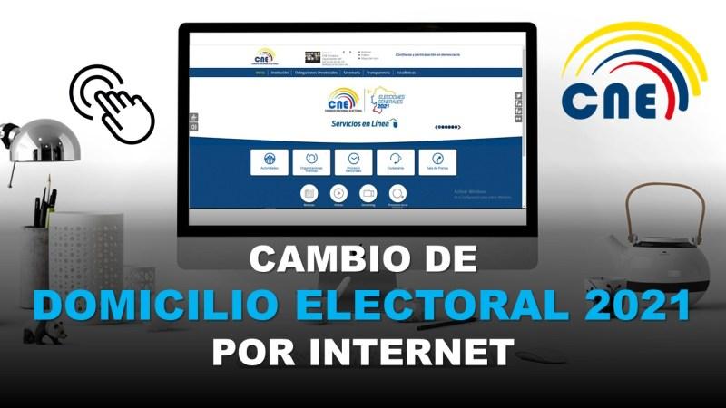 CNE Cambio de Domicilio Electoral 2021 por Internet