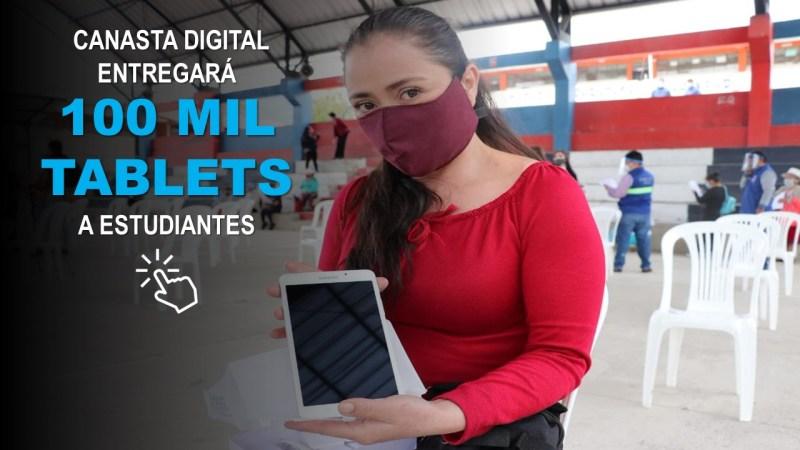 Canasta Digital entregará 100 mil Tablets a Estudiantes