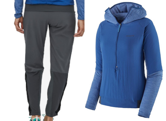 Patagonia Airshed Pro Running Pullover und Strider Pro Pants
