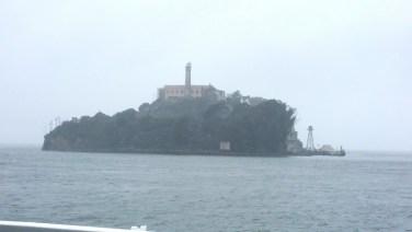 San Francisco, California, Alcatraz, prison, view, ferry, outside,