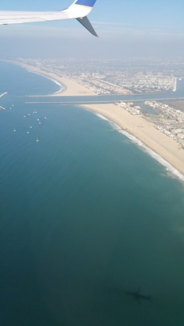 Take off, Los Angeles, Santa Monica,