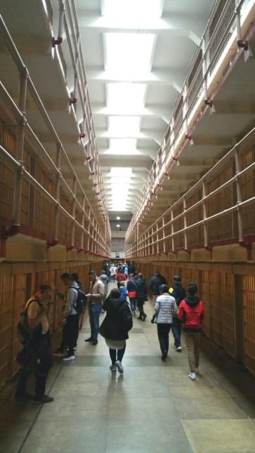 San Francisco, California, Alcatraz, main hall, hall, prison, inside, tourist, tourists,