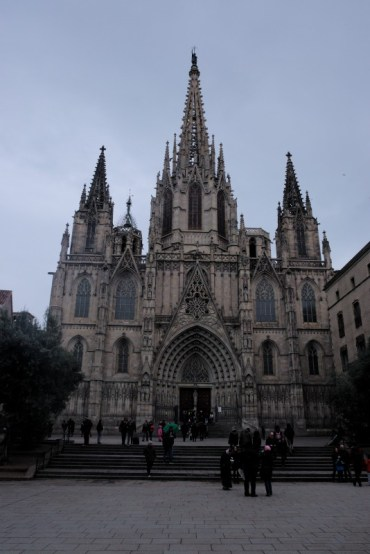 """Barcelona cathedral. The main one. The most famous - Sagrada la Familia is """"only"""" a basilica."""