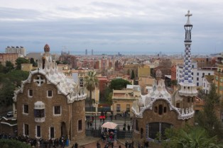 A standard view from Park Guell towards the city.
