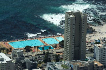Swimming Pool by the ocean in cape town, south Africa