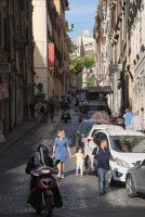 Rome busy streets