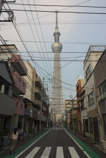 Local roads up to Sky Tree Tokyo