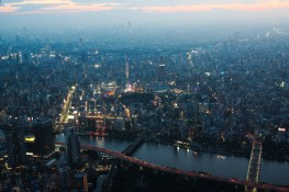 Tokyo from Above dusk 3