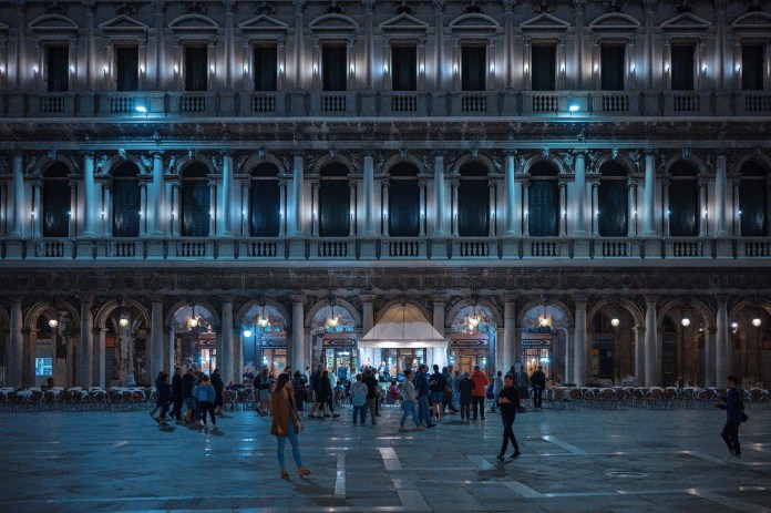 mysteries of Venice, St. Mark's Square at night
