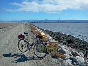 Dirt road along levee