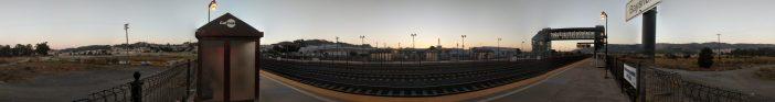 Panoramic image of Bayshore Caltrain station