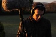 Sound Recordist Cian O Brien on location.