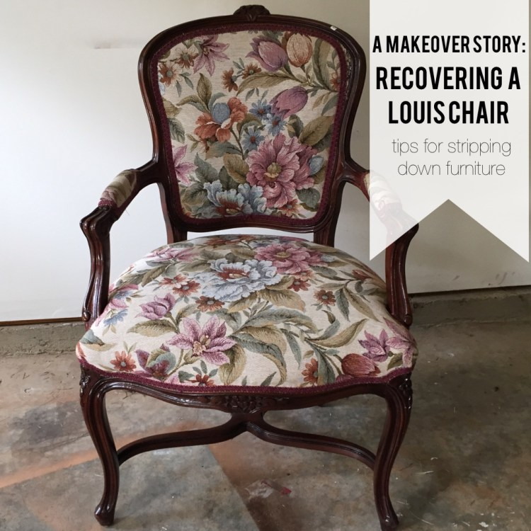 recovering a louis chair