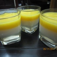 Three-layered mango jelly ^^