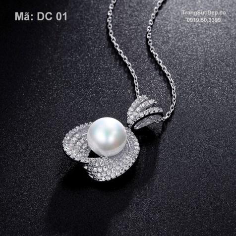 Dây chuyền vàng trắng ngọc trai cao cấp, cực đẹp, giá rẻ nhất (2)