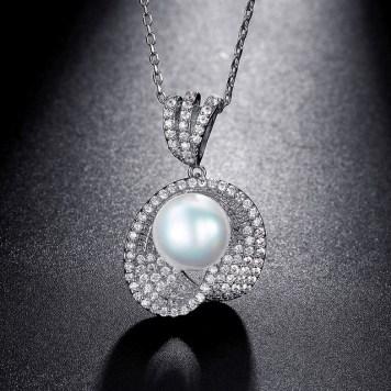 Dây chuyền vàng trắng ngọc trai cao cấp, cực đẹp, giá rẻ nhất (5)