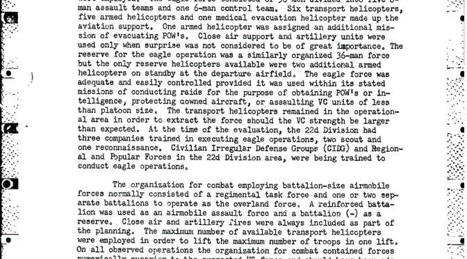 Tài liệu giải mật từ Ngũ Giác Đài về sự  hính thành của chiến thuật diều hâu…