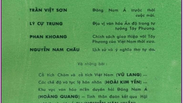 Lịch sử và ý nghĩ về thơ Tự Do của Nguyễn Nam Châu