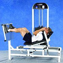 Styrkan i benen mättes med en horisontel benpress