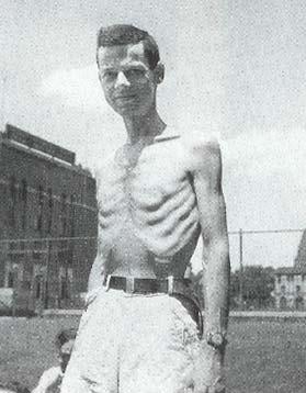 En av deltagarna i Keys semi-starvation studie