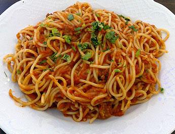 Spagetti Bolognese användes i studien
