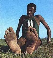 Fötter som är tränade för att fungera barfota
