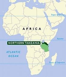 Hadza lever i norra delarna av Tanzania