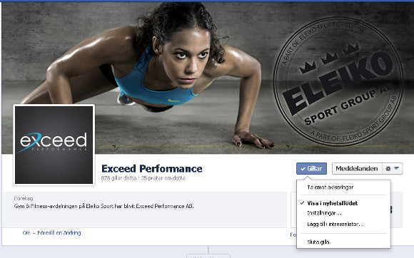 Exceed Performance på facebook