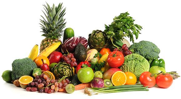 Massor av goda frukter och grönsaker