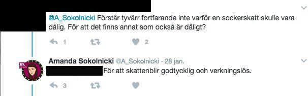 Sokolnicki om skatt på läsk och socker.