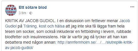 Fernholm på Facebook