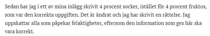 Fernholm har fel