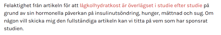 Martina Johansson kritiserar studier som hon inte har läst