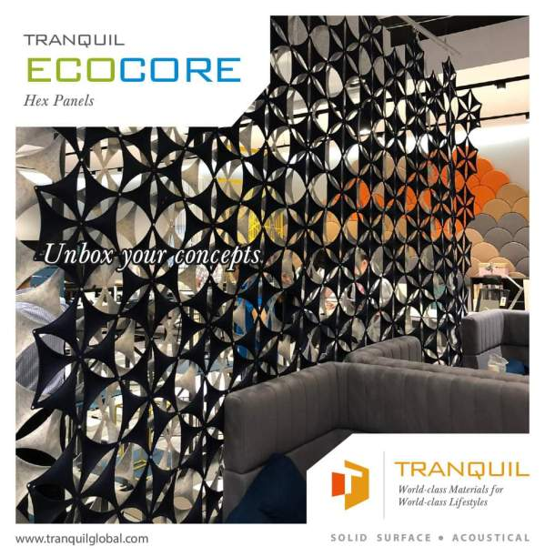 Tranquil Ecocore Hex Panels