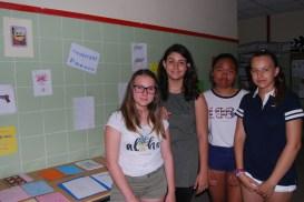 Algunas de las alumnas que explicaron los Cuadernos