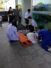 injured waiting transport