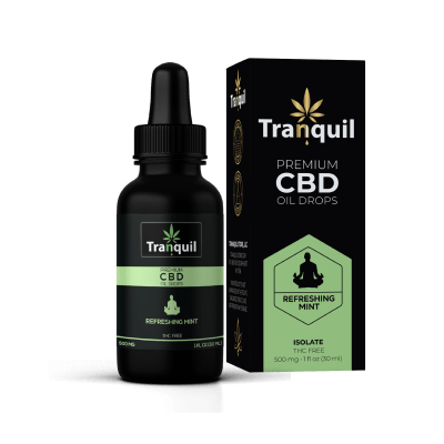 Refreshing Mint CBD Premium Oil Drop
