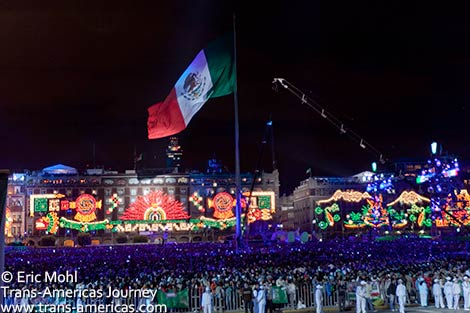 Mexican Independence Day Bicentennial Celebrations   Trans Americas     The Z    calo  Mexico City s